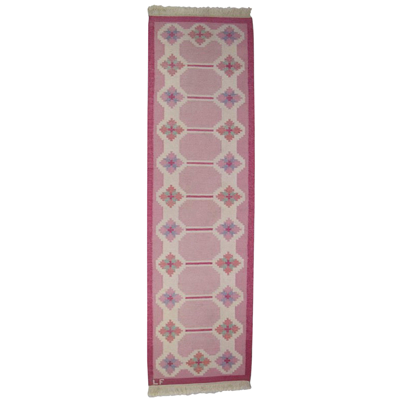 Röllakan, Swedish Design, 1960s, Pink Carpet