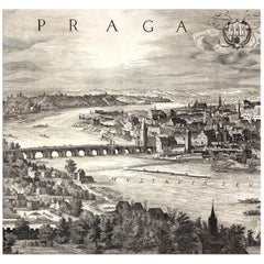 The Charles Bridge, after Engraving by Baroque Czech artist