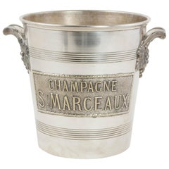 20th Century French Art Deco Period Silver Plate St. Marceaux Champagne Bucket