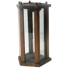 Late 19th Century Wooden Lantern from Sweden