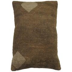 Brown Anatolian Turkish Rug Pillow