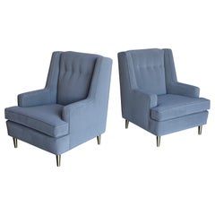 Pair of Lounge Chairs by Edward Wormley for Dunbar