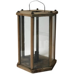 Late 19th Century Hexagonal Wooden Lantern from Sweden