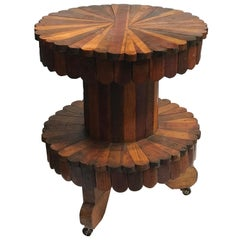 Early 20th Century Folk Art Two-Tier Side Table