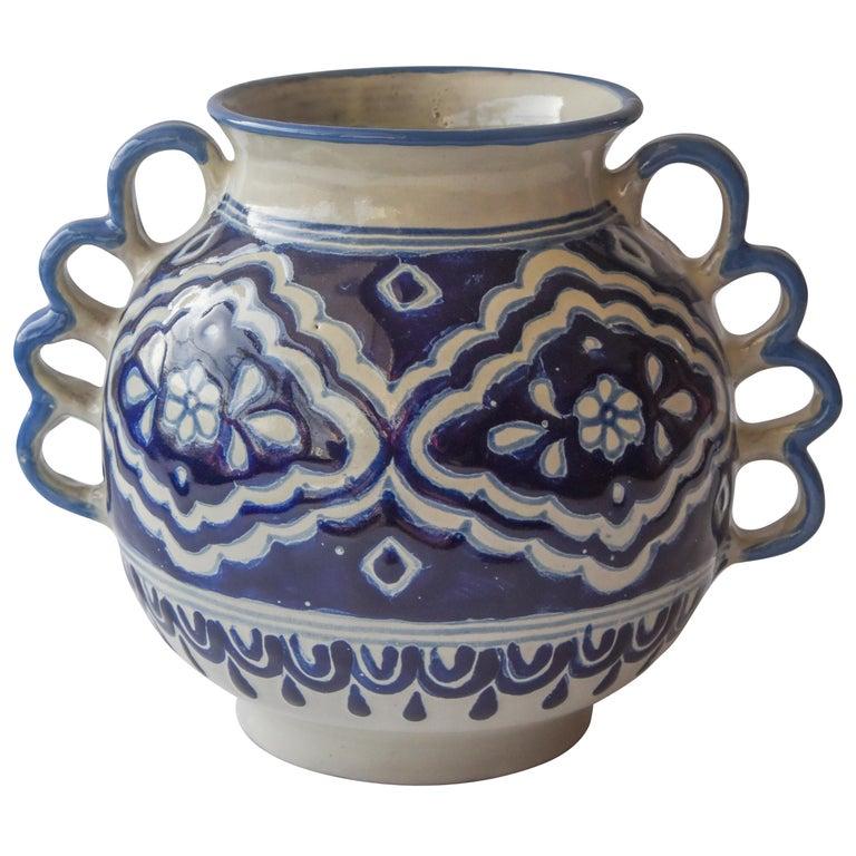 Talavera Cesar Torres Puebla Mexico Ceramic Traditional Mexican Decorative Piece For Sale