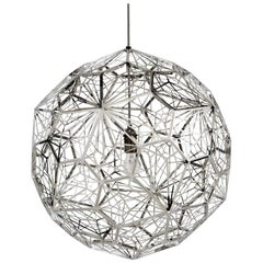 Steel Etch Web Spherical Contemporary Pendant by Tom Dixon