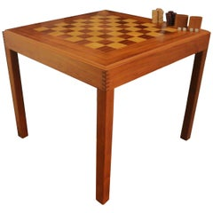 Kovby Danish Modern Game Table Rosewood Teak