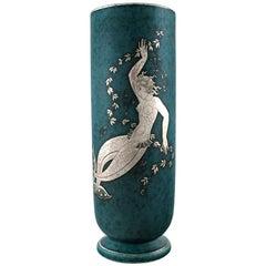 Wilhelm Kåge/Kaage, Gustavsberg, Argenta Vase Decorated with Mermaid