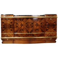 Large Art Deco Bar in Walnut