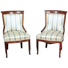 Two Biedermeier Mahogany Chairs, circa 1830