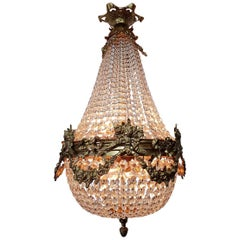 Late 20th Century Louis XVI Style Crystal Chandelier