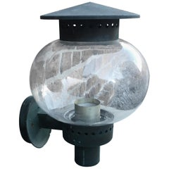 Outdoor Lamp Art Deco Period, Attributed to Jean Perzel, circa 1930