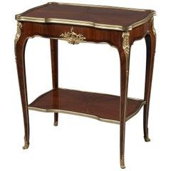 Louis XV Style Marquetry Salon Table by Mercier Frères, circa 1900