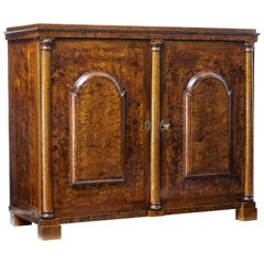 19th Century Swedish Alder Root Sideboard Cupboard