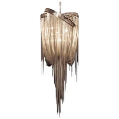 Mother Chandelier with Filigree Band 'Stainless Steel' by Hudson