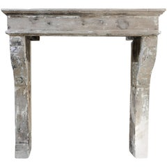 Antique French Fireplace Mantel, 19th Century, Campagnarde Style