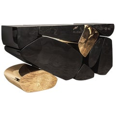 Stones Console 'Bronze, Black Lacquer' by Hudson
