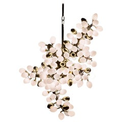 Valiant Chandelier 'Murano Glass, Bronze, Black Lacquer' by Hudson