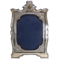 Magnificent and Grand English Sterling Silver Photograph Frame, 1910