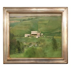 Gorgeous Landscape Painting by Bucks County Listed Artist Peter Schore