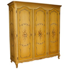 20th Century Lacquered and Painted Wood Venetian Wardrobe, 1960
