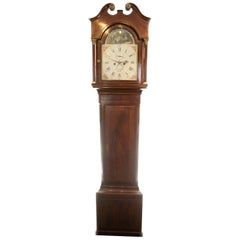 18th Century Aquilla Barber 8 Day Arched Automata Longcase Clock