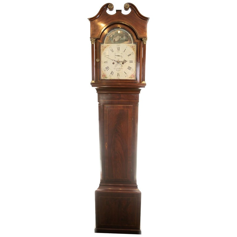18th Century Aquilla Barber 8 Day Arched Automata Longcase Clock For Sale