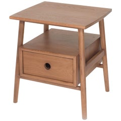 Sitka Side Table, Sienna, Minimalist Accent Table in Wood