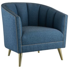 Blue Hour Armchair, Elegant Armchair on Metal Legs