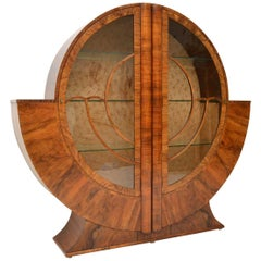 1920s Art Deco Vintage Walnut Bookcase/Cabinet
