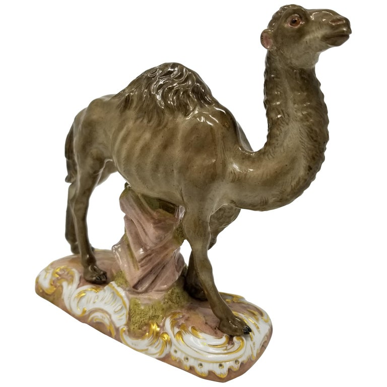 Unusual 19th Century Meissen Figure of a Camel after a Model by J. J. Kandler