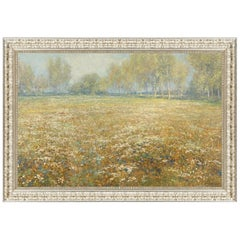 Meadow in Bloom, after Impressionist Artist Egbert Schaap, Belle Époque Era