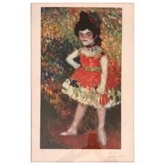 """PICASSO Lithograph """"La Danseuse Naine Dwarf Dancer"""""""