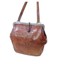 Leather Postal or Bank Bag