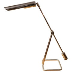1970's Danish Minimalist Chrome Desk Lamp by Abo Randers