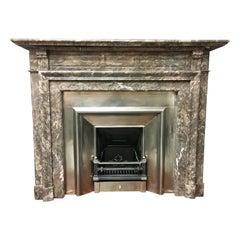 Tall Antique 19th Century Victorian Rare Ashburton Marble Fireplace Surround