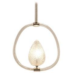 Italian Design, 1930s Murano Glass Chandelier / Pendant Lamp by Barovier & Tosso