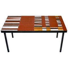 Roger Capron - Ceramic Tiles Top Coffee Table, France, circa 1960