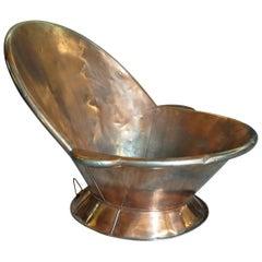 French 19th Century Copper Bathtub