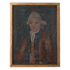 Antique Oil on Canvas Painting of a Young Aristocrat