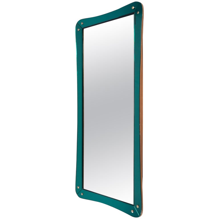 Mirror Attributed to Cristal Art, Italy, circa 1960 For Sale