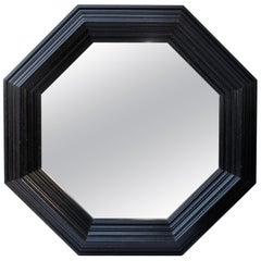 Large Black Octagonal Mirror