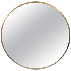 Large Round Bronze Mirror