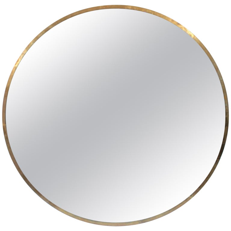 Large Round Bronze Mirror For