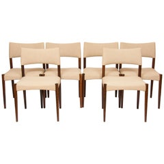 1960s Set of 6 Rosewood Dining Chairs by Aksel Bender Madsen & Ejner Larsen