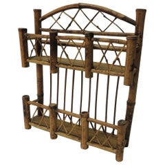 Vintage Tortoise Bamboo Wall Mounted Spice Rack