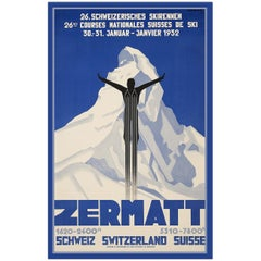 Zermatt, After Art Deco Travel Poster by Pierre Kramer