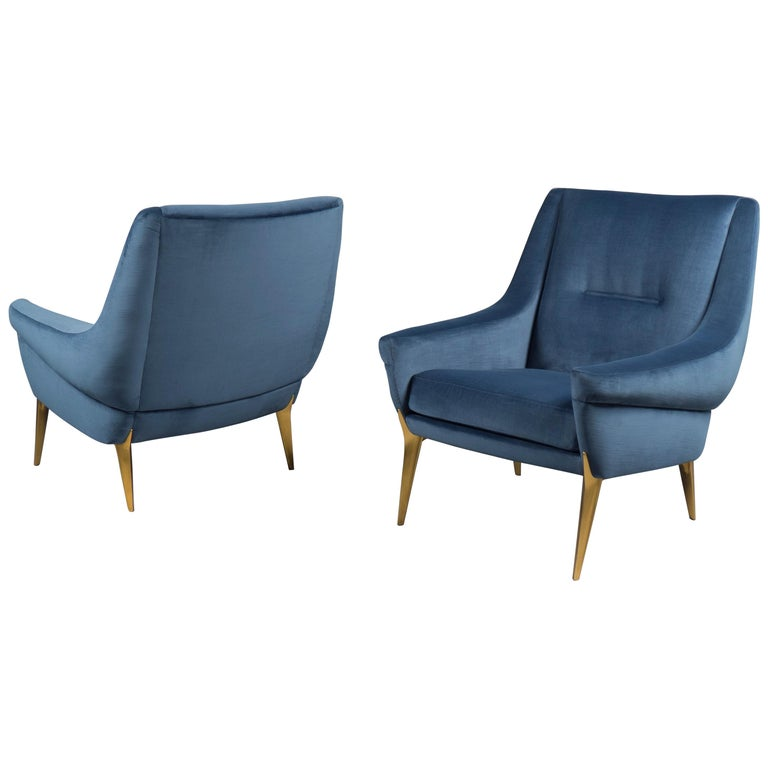 Pair of Armchairs by Charles Ramos, France, 1960s For Sale