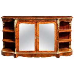 Maharajah Sighns Burr Walnut Side Cabinet, circa 1870