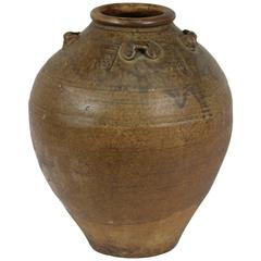 Archaistic Earthenware Storage Vessel, Thailand 15th-18th Century